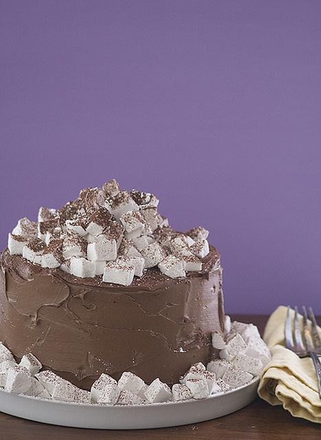 hot chocolate cake | Cakes | Pinterest