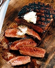 Mexican Spice-Rubbed Rib Eyes with Lime Butter | Recipe
