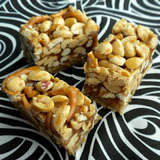 Butterscotch Blondie Bars With Peanut-Pretzel Caramel Recipe ...