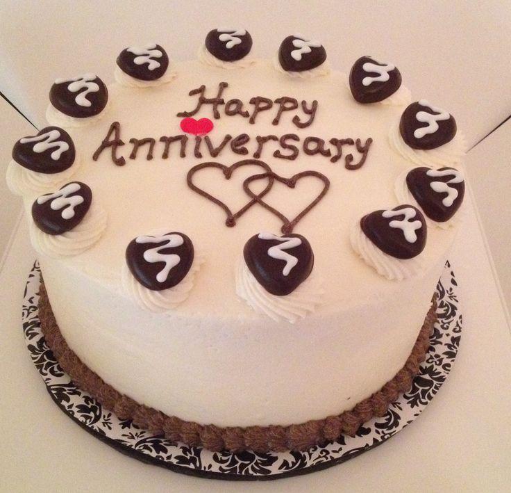 Anniversary Chocolate Cake Design : Happy Anniversary Chocolate Cake Cakes Pinterest