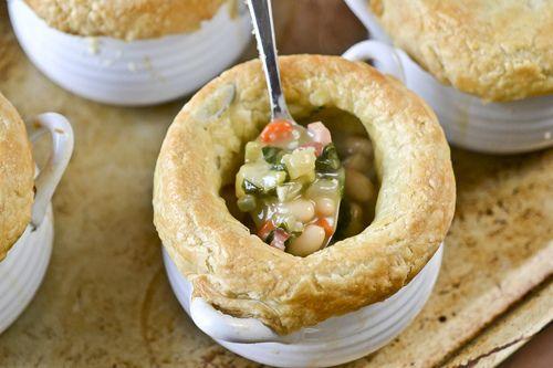 Pancetta, White Bean, & Swiss Chard Pot Pies