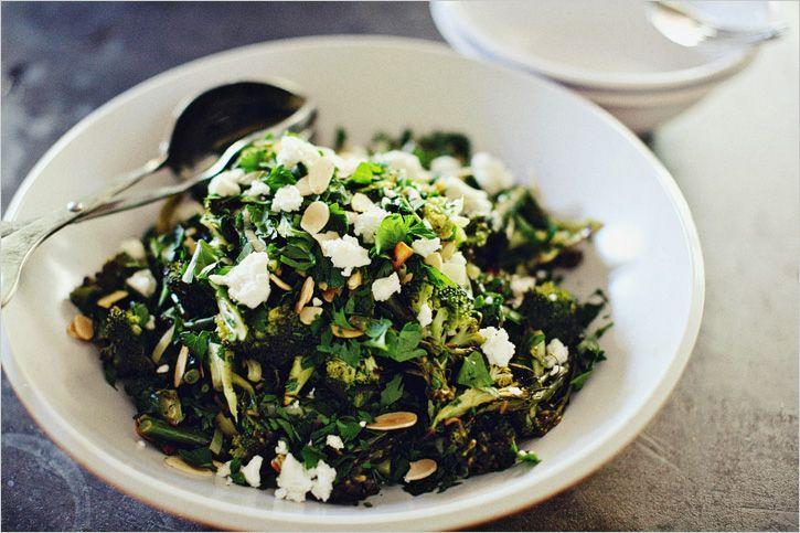 """Emerald Salad"""" - Roasted Brocolli & Leek Salad w/ Parsley, Feta ..."""