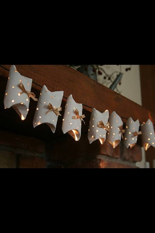 Toilet Roll Christmas Light Idea | Cool DIY crafts | Pinterest