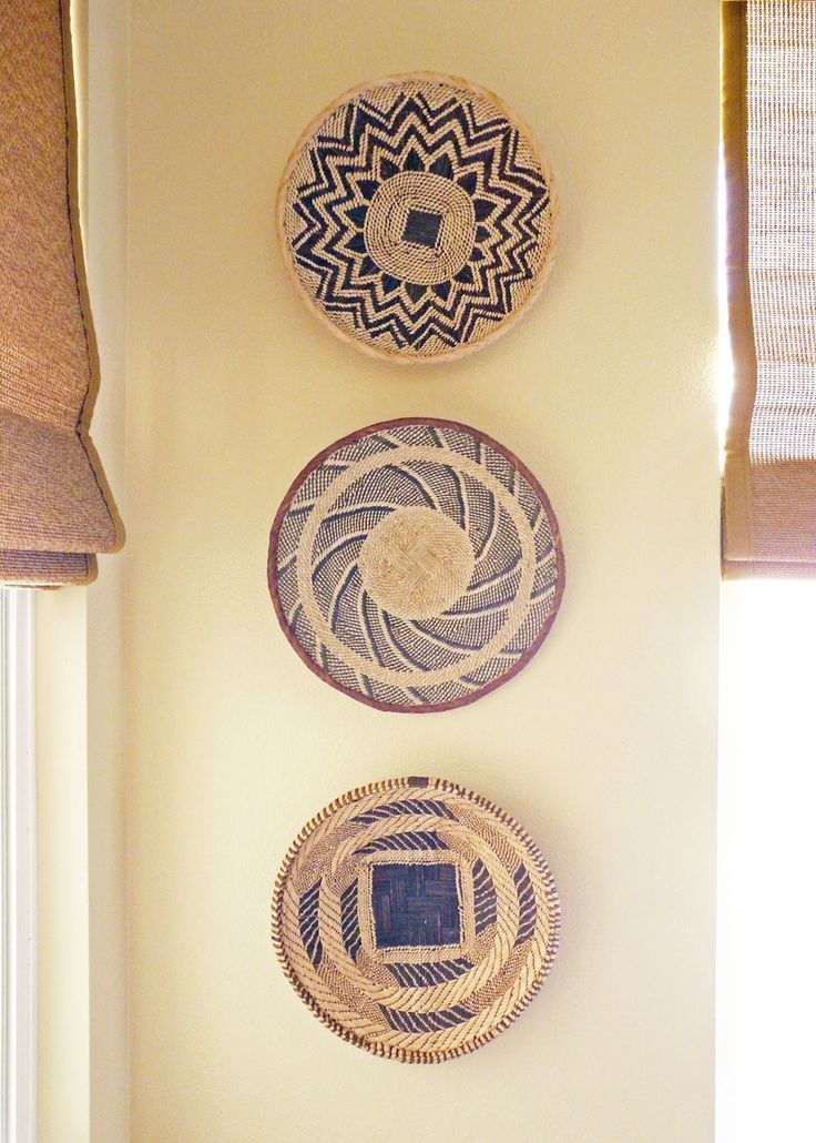African Basket Wall Decor African Pinterest