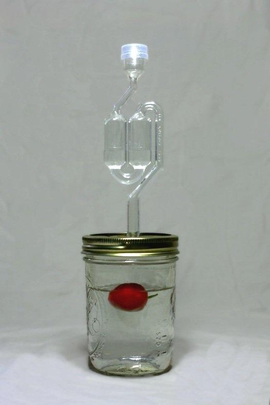 makin' booze...in a mason jar.