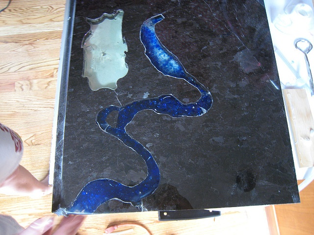 Pin by unique finishes on finishes counters pinterest for Crushed glass countertops