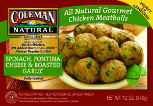 Skinny chicken meatballs with spinach, fontina, and garlic - all ...