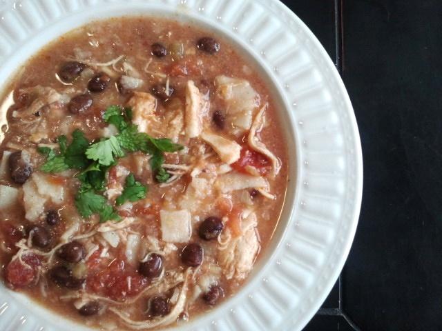 Chicken Enchilada Soup (Crock-pot) | soups | Pinterest