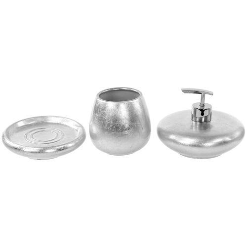 Bathroom Accessory Set, Gedy SO281, Silver or Gold 3 Piece Bathroom ...