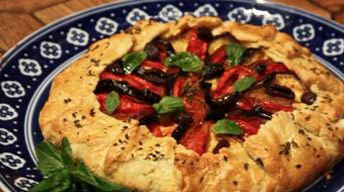 Mediterranean Vegetable Galette   Mat og drikke   Pinterest