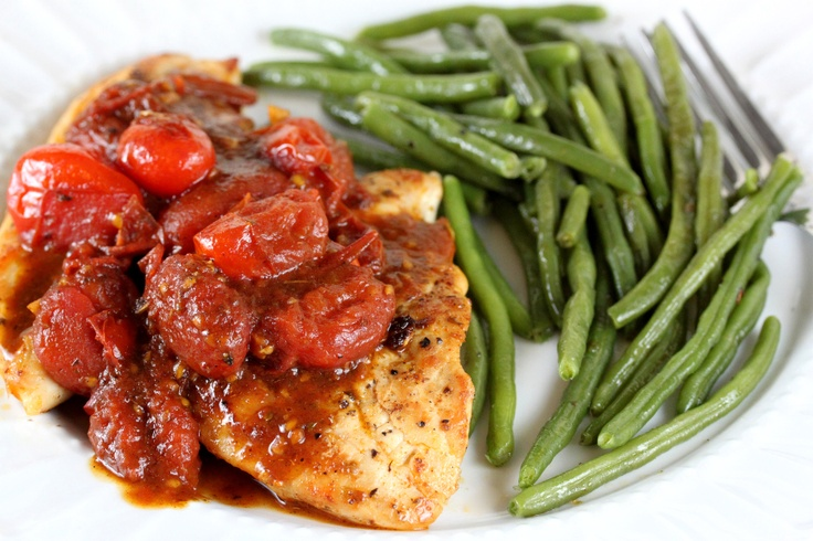 Chicken with Tomato Herb Pan Sauce | A E - Entrée - Poultry (Baked ...