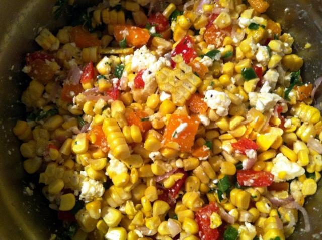 Roasted Corn Summer Salad | Salad | Pinterest