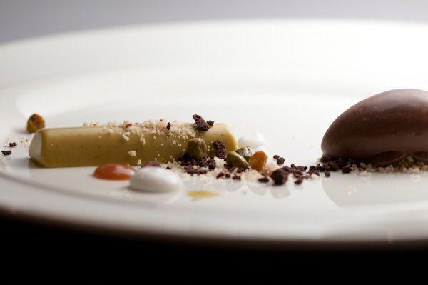Coconut Caramel, Cocoa Meringue, Candied Pistachios, and Praline Cocoa ...