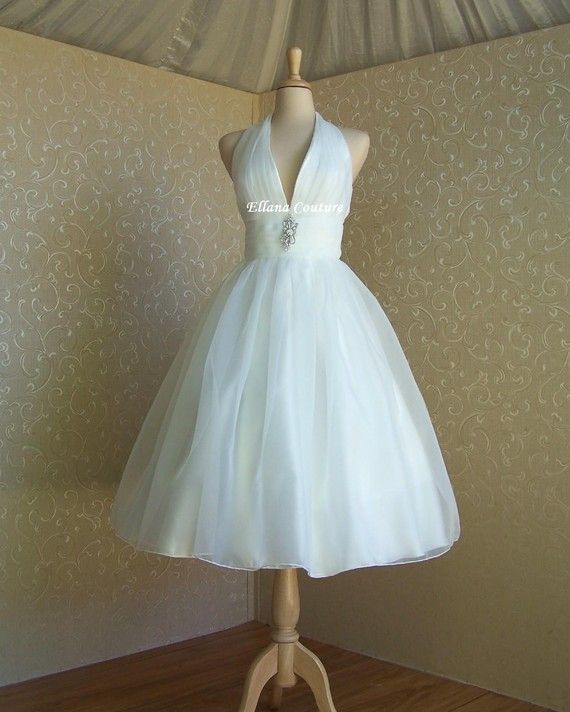 Pinterest discover and save creative ideas for Retro tea length wedding dress