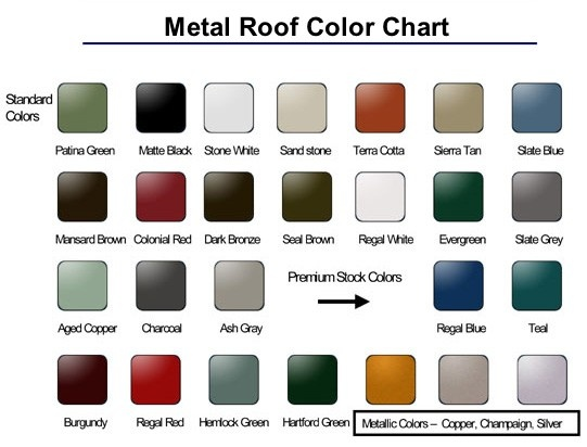 Best Metal Roof Color Chart For The Home Pinterest 400 x 300