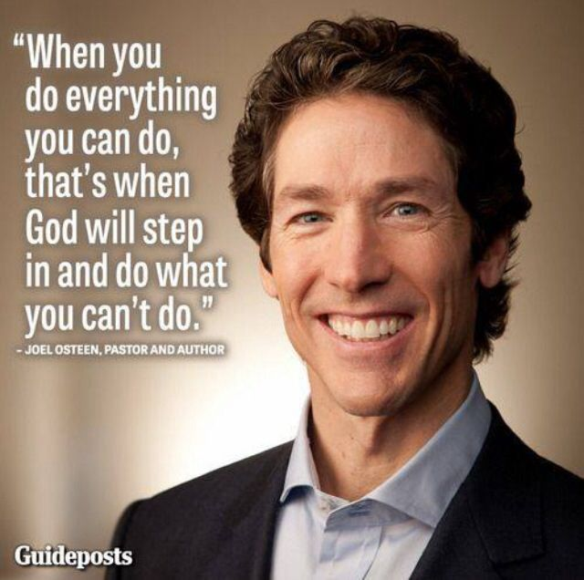 god will step in joel osteen inspirational quotes