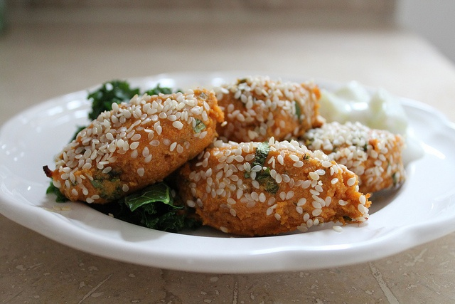 baked sweet potato falafel by themoveablefeasts, via Flickr