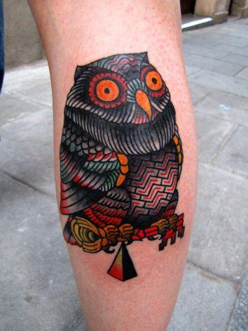 It´s an owl by El Carlo Aloha Tattoos —BCN—