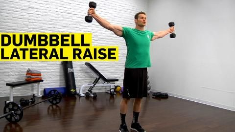 Dumbbell lateral raise here is a great arm exercise