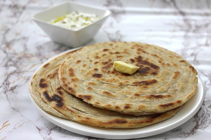 paratha lox flatbread grilled flatbread lachha paratha lachha paratha ...