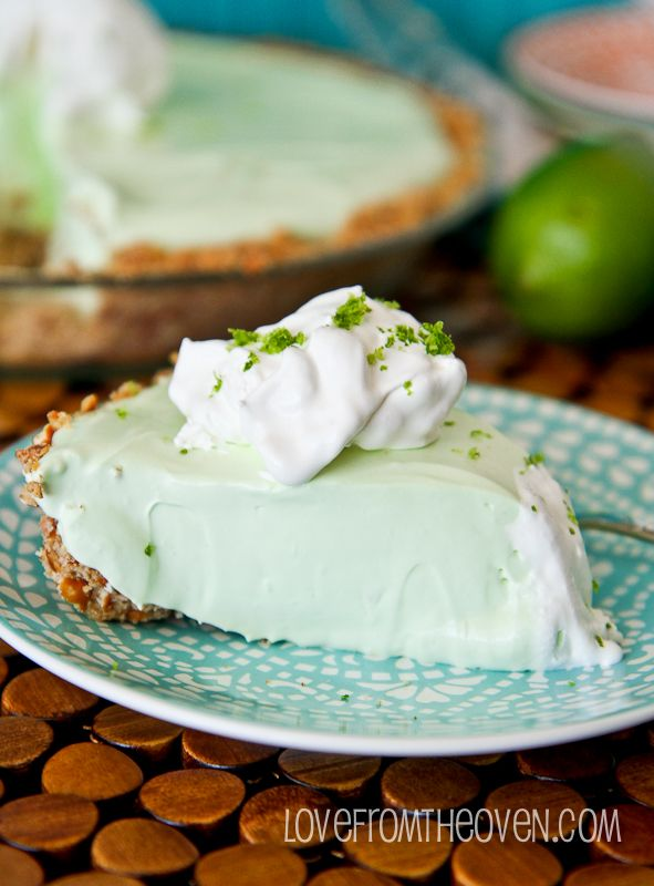 Key Lime Margarita Pie With A Pretzel Crust. Such an easy pie with ...