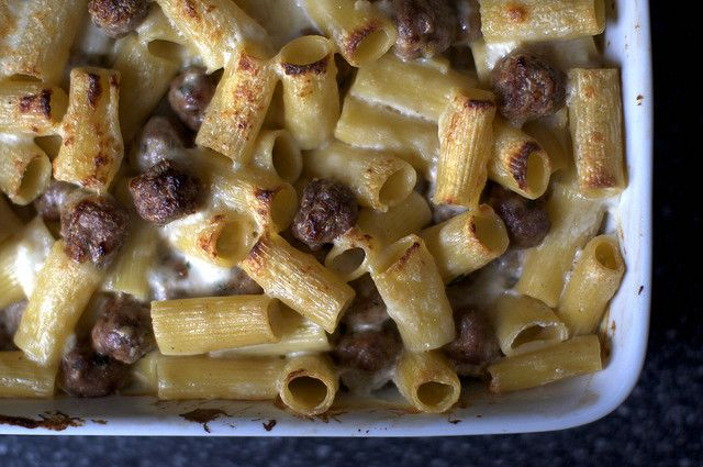 baked rigatoni with tiny meatballs | smittenkitchen.com