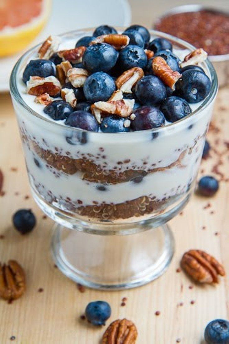 Blueberry quinoa parfait!! Perfect healthy breakfast. http ...