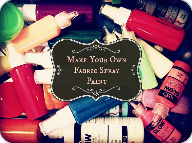 make your own fabric spray paint diy pinterest