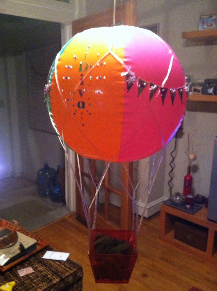 medium hanging hot air balloon basket dc candy drops llc pinter