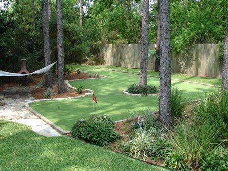 backyard putting green ideas for the home pinterest