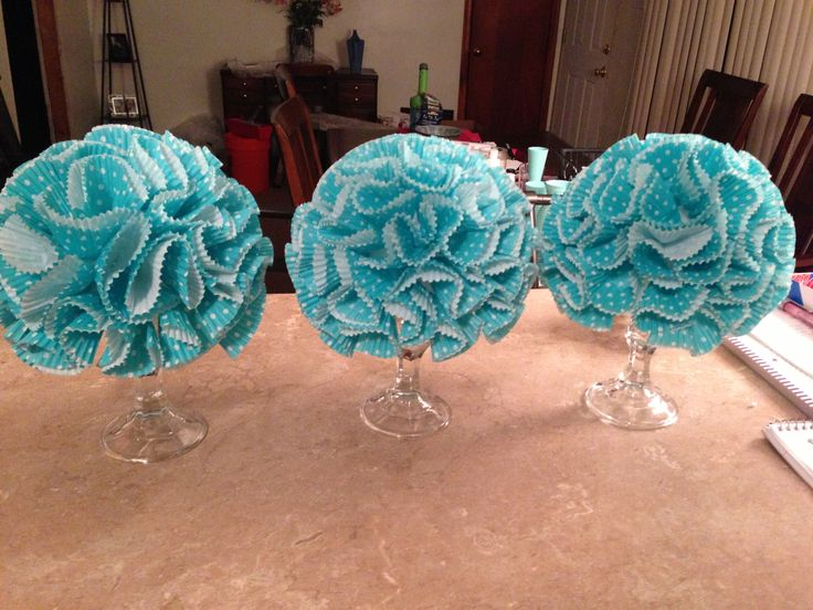 Dollar store candlesticks styrofoam ball pins hot glue for Baby decoration stores