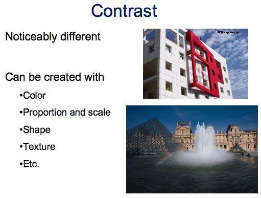 Contrast In Principles Of Design : Principles of design contrast interior pinterest