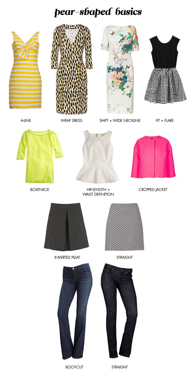 Pear shaped body fashion, clothes, and outfit ideas #pearshapedbody - pear shaped basics