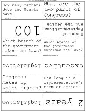 american government flash cards