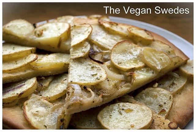 Potato Pizza #vegan #pizza