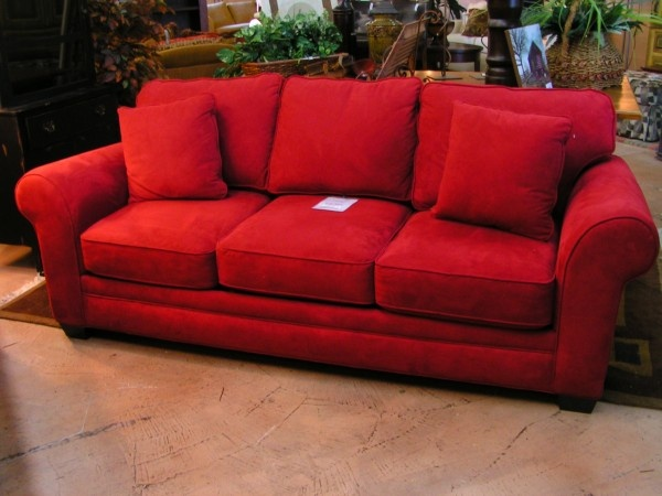 Red Microsuede Sleeper Sofa Sofas We Love Pinterest