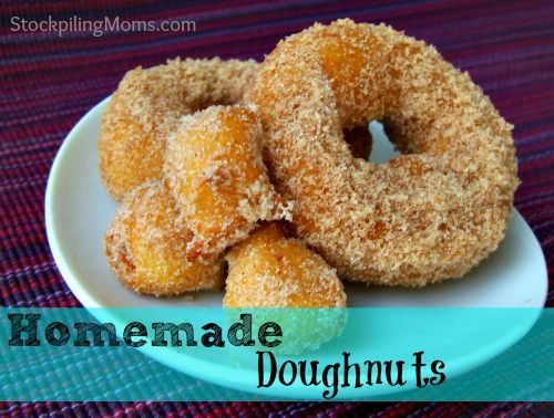 Easy Homemade Doughnuts w/ Cinnamon and Sugar ~ reminds me of the ones ...