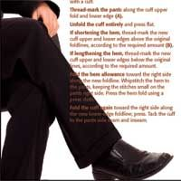 altering trousers : cuff