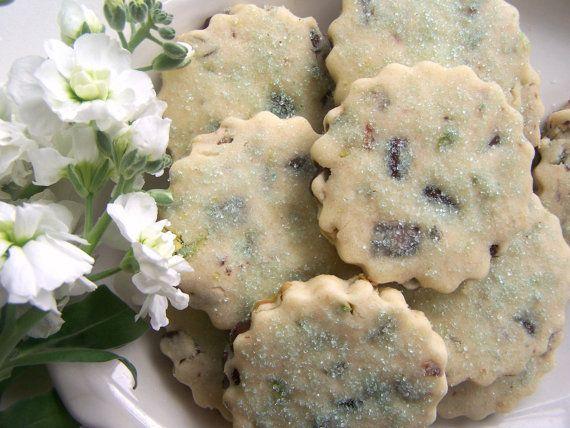 Pistachio Chocolate Shortbread Cookies | Cookies | Pinterest