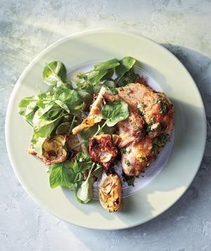 Roast Chicken and Artichokes With Cilantro-Caper Sauce recipe ...