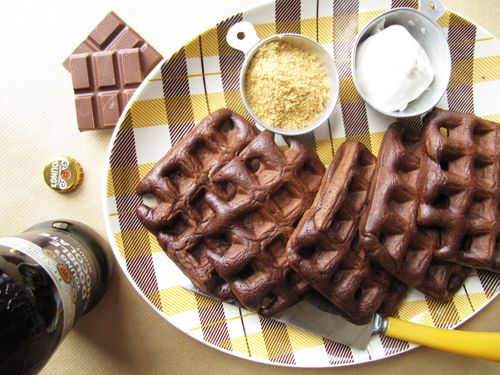 ... chocolate fondue dark chocolate waffles go ahead waffle your s mores