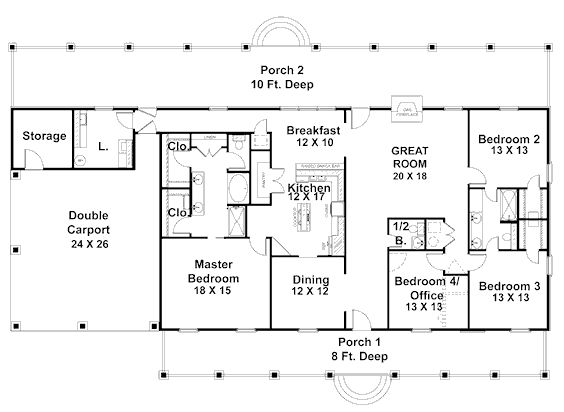 single story floor plan house plans pinterest