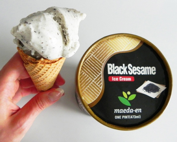 black sesame ice cream... just got some and it is AMAZING