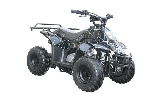 Buy New: $199.99: Automotive: 110cc Four Wheelers 6 Tires Atvs, Spider Black