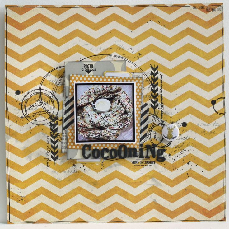 """Mag&Scrap: """" Cocooning """" : challenge Color Your World"""