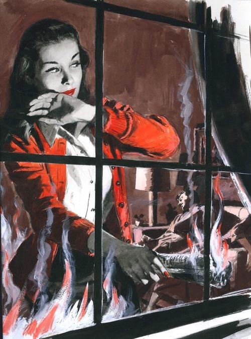 Vintage crime illustration