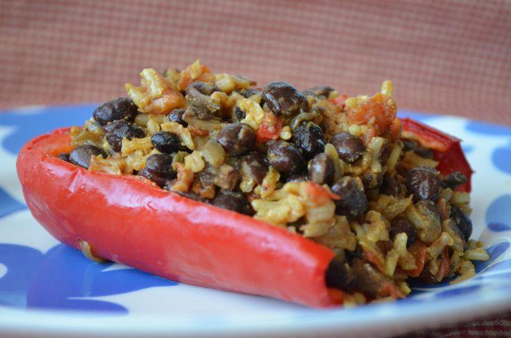 Vegetarian Stuffed Peppers | Food | Pinterest