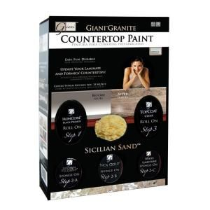 Giani Countertop Paint Home Depot : Giani Granite 1.25-qt. Sicilian Sand Countertop Paint Kit at The Home ...