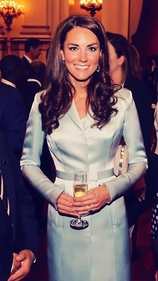 Kate Middleton wearing Christopher Kane for the opening ceremonies.