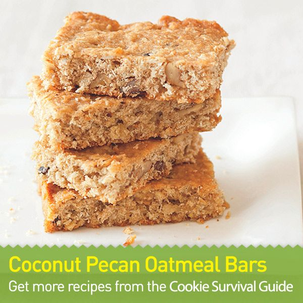 Coconut Pecan Oatmeal Bars: This easy dessert recipe combines the ...